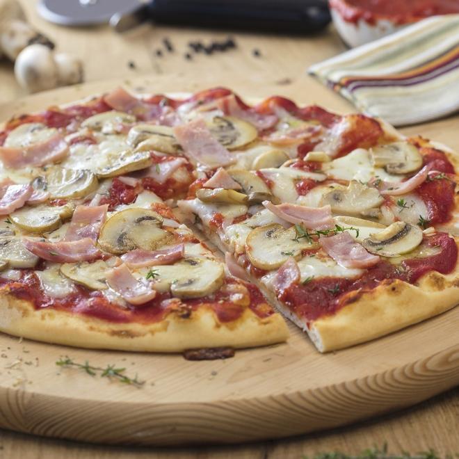 Pizza prosciuto funghi-450gr