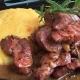 Pastrama de oaie la ceaun cu mamaliguta 150gr/200gr